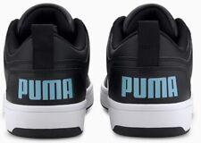 PUMA Men's US 10.5 Rebound LayUp Comfort soft foam+ shoes Black white baby blue