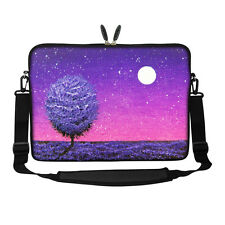 """17.3"""" Laptop Computer Sleeve Case Bag w Hidden Handle & Shoulder Strap 3121"""