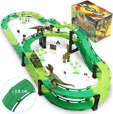 Wostoo Dinosaurier Auto Dinosaurier Spielzeug Autorennbahn Kinderrennbahn