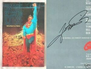 Signed 1st Ed HISTORY OF DC UNIVERSE George Perez Marv Wolfman HARDCOVER BOOK