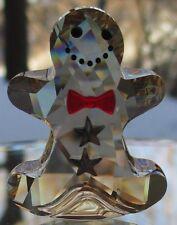 SWAROVSKI Crystal Christmas Rocking Gingerbread Man Figurine Mint & New in Box