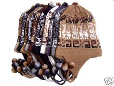 Wholesale Lot Of 30 Natural Alpaca Chullo Hat Caps