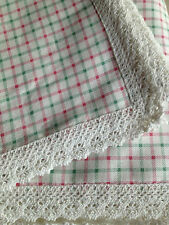 Linens N Things Shabby Chic Christmas Check Table Cloth Rectangle Round Square