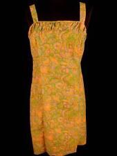 Vintage Francés 597ms-600ms Vivo Vestido De Verano Talla 8