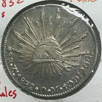 1834 Zs OM Mexico 8 Reales - Great Silver - Nice AU/UNC