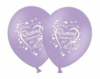 "Happy Diamond 60th Anniversary Printed 12"" White on Lilac Latex Balloons 1-100ct"