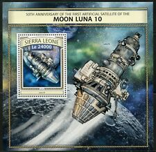 SIERRA LEONE 2016 50th ANN OF THE 1st SATELLITE OF THE MOON  S/SHEET  MINT NH