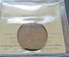 Newfoundland  1876H  Large Cent ICCS MS 60 UNC Mint State Queen Victoria