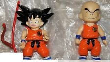 2 FIGURE ANIME/MANGA VINTAGE DRAGON BALL-GOKU,CRILI CRILIN TEAM GENIO KAMEHAMEHA