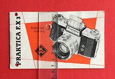 Bedienungsanleitung VEB KW Niedersedlitz Dresden 1957 Praktica F.X 3 ( F18498