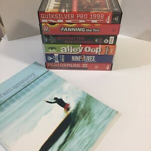 Surfing VHS Pal Video Tapes Lot of 6 Tested and Working Tom Carroll Kelly Slater