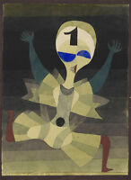 """Paul Klee the runner Abstract Art CANVAS PRINT painting poster 24""""X16"""""""