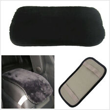 Comfortable Black PU & Artificial Fur Vehicle Center Armrest Warm Soft Pad Cover