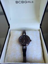 NIB BCBGirls Crystal Accented Brown Semi Bangle Ladies Watch GL4007