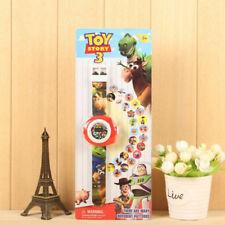 Fun Movie Toy Story Cartoon Doll Figure Projection Wrist Watch Kids Boy Girl Toy