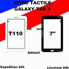 "VITRE ECRAN TACTILE SAMSUNG GALAXY TAB 3 Lite 7"" T110 BLANC + ADHESIF"