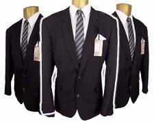 "Taylor & Wright Mens Black Pinstripe 2 piece suit Ch44""L,W36"" L31"" Tailored Fit"