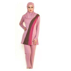 Womens Islamic Muslim Full Cover Costume Modest Swimwear Burkini Swimming Ladies
