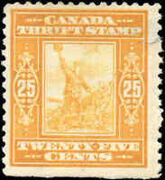 Canada Mint H 1918 F Van Dam #FWS1 25c War Savings Stamp