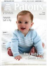 PA4004A BABIES 4ply SWEATER & PANTS KNITTING PATTERN SIZES 3 - 24 months