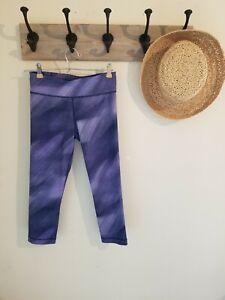 Under Armour Leggings Capri Cropped Purple Ombre Tie Dye Polka Dots XS S