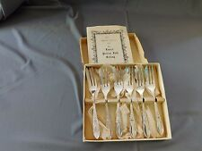 Silver Plate Pastry Forks - Laurel by Sheffield, in original box