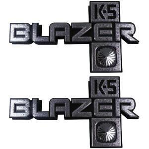 "81-88 Chevrolet "" K5 BLAZER "" 4WD Front Fender Emblem Trim SET - Trim Parts"