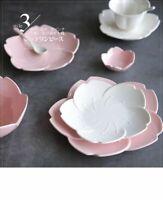 Ceramic Sakura Dinner Set Kitchen Tableware Plates Flower Shape Chili Sauce Dish