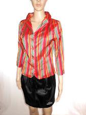 Betty Barclay Womens Vtg 90s Silk Stripe Formal Tailor Jacket Blazer sz 10 AH47