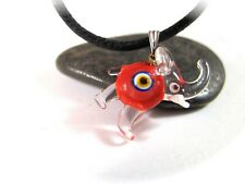 Eye Pendant Necklace Red Elephant Evil