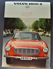 1968 Volvo 1800 S Catalog Sales Brochure Excellent Original 68