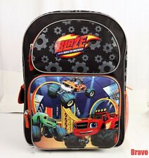 "Blaze and The Monster Machines 16"" School Large Backpack Bag USA SHIP Brand new"