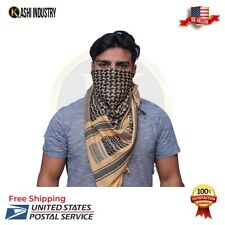 Military Army Shemagh Tactical Desert Keffiyeh Scarf Sand And Black Scarve Heavy