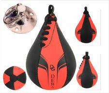 Deba® Speedball Leder Boxen Punchingball Boxbirne Schlagbirne mit Zubehör