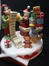 Grolier Collection Disney Christmas 1990 Checking It Twice Cermanic Statue