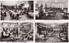 More details for 8 cunard white star liner queen elizabeth interiors unused rp pcs