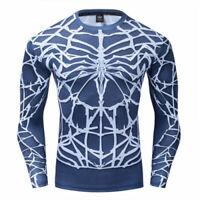 Men Gym T Shirt Fitness Compression Top Marvel Muscle Venom Long Sleeve Shirt