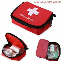 Outdoor Survival Travel Hiking Camping Emergency First Aid Kit Rescue Bag Red