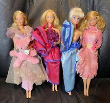 4 1980s Barbie Dolls: 1982 Dream Date, 1984 Dream Time, 1984 Happy Birthday +