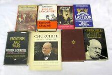 Churchill Winston Randolph Marlborough Jennie WWII 8 Books Biography Frontiers +