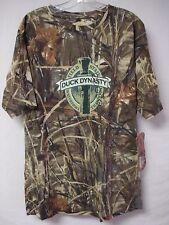NWOT Men's Duck Dynasty Camo T Shirt Size Large Green Camo w/ Design #316G