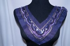 Purple Sequin Embroidered Applique #111 Sew On Patch Bridal Dress Costume Dance