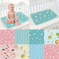 Star Duck Print Waterproof Infant Baby Crib Changing Mat Cotton Reusable Diaper