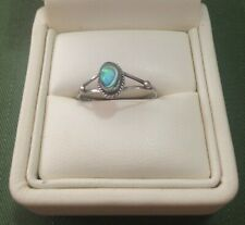 FROM MEXICO - DAINTY STERLING SILVER RING WITH NACRE - SIZE O 1/2 (7.5)