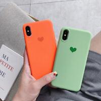 For Xiaomi Mi 9 8 SE A2 Lite Redmi Note 7 Pro Heart Matte Rubber Soft Case Cover