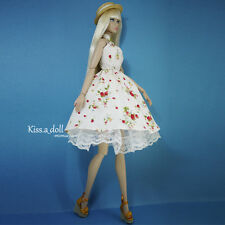 kissadoll clothes poppy parker Fashion Royalty Pastoral strawberry Floral Dress