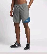 "New Nike Men's  Flex  RUNNING SHORTS 2-in-1   Grey Small 9""  waist  24"""