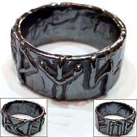 Anello runico vichingo vikings argento brunito 925 con rune fatto a mano (AB21)