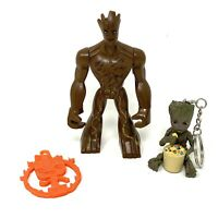 Random Bundle Guardians Of The Galaxy Groot Lego Figure & Key rings Collectibles