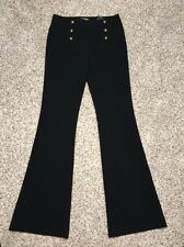 Express Pants Black Sailor Flare Size 4 Reg Inseam 34 Womens NWT Retail $79.90